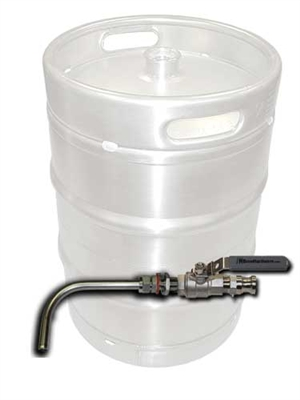 Keg To Kettle Conversion Kit Weldless Drain Valve Only