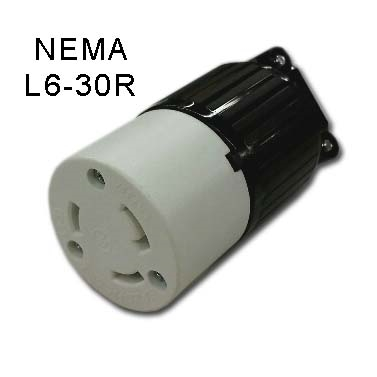 Receptacle Nema L6 30r Twist Lock Cord Receptacle For