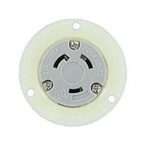 Nema L6 30r Panel Mount Twist Lock Receptacle For 240v 30