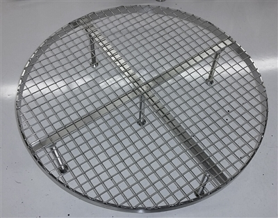 "Stainless Steel False Bottom for Brew In a Bag (BIAB) - 17.5"" Diameter"