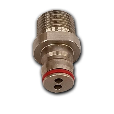 "Ball Lock Keg QD Post (free flowing) to 1/2"" Male NPT"