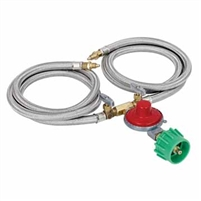 Bayou Classic M2HPH 10PSI regulator for two burners