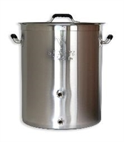 Brewer's Beast 16 Gallon Triclad Kettle with two welded ports