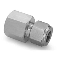 "Tube Compression x NPT Threaded Adapter - 3/8"" Tube x 1/2"" FNPT"