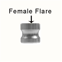 "Male Camlock x 1/4"" Female Flare (FFL) Adapter"