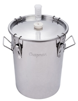 Chapman Uni-vessel Stainless Fermenter, 7 gallon
