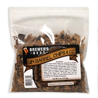 Oak Chips, Gin Barrel, 4oz