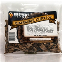 Oak Chips, Rum Barrel, 4oz