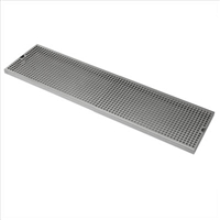 "Drip Tray, Stainless Steel, Surface Mount, 8"" x 24"""
