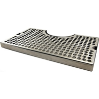 Drip Tray, Stainless Steel, Surface Mount for Towers