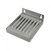 Drip Tray, Stainless Steel, Wall Mount for Single Faucet