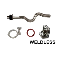 Heating Element Kit, 5500 watt TC Ripple, Weldless TC, Clamp, Gasket