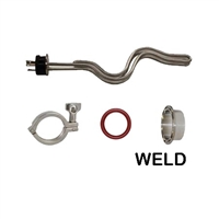 Heating Element Kit, 5500 watt TC Ripple, Weld or solder TC, Clamp, Gasket
