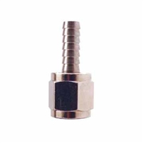 "Swivel Flare Adapter - 1/4"" FFL x 1/4"" OD hose barb"