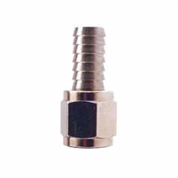 "Swivel Flare Adapter - 1/4"" FFL x 3/8"" OD hose barb"