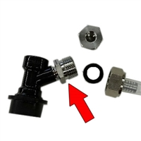 Female Flare (FFL) to Male Beer Thread Adapter SANKE to Ball Lock