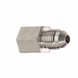 "19/32"" -18 Keg Thread to 1/4"" MFL Male Flare Adapter"