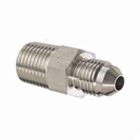 "1/4"" NPT Male to 1/4"" MFL Male Flare Adapter"