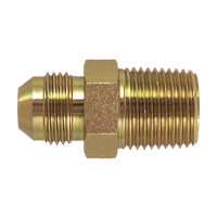 "1/4"" NPT Male to 1/4"" MFL Male Flare Adapter (BRASS)"