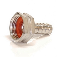 "Garden Hose Adapter #3 FGHT x 1/2"" barb Stainless Steel"