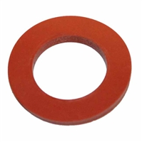 "Flat Silicone Gasket for 1/2"" NPT, bulkheads, LTS sight kits, etc (3/4 ID x 1.25 OD)"