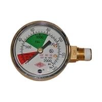 Pressure Gauge 2000 PSI Left Hand Thread