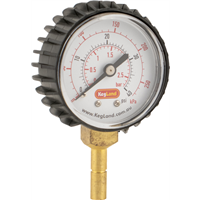 Pressure Gauge 0-40 PSI, 8mm Stem