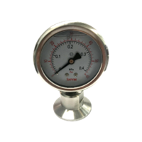 "Pressure Gauge, 1.5"" TC,  0-60 PSI, Premium Glycerin Filled"