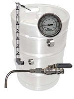 Keg to Kettle Conversion Kit - 3 Port Weld On Drain, Sightglass, and Thermometer