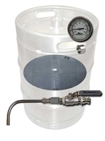 Keg to Mash Tun Conversion Kit - 2 port WELD In with false bottom and thermometer