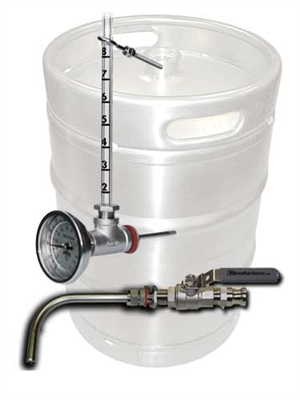 Keg To Kettle Conversion Kit 2 Port Weldless Drain And