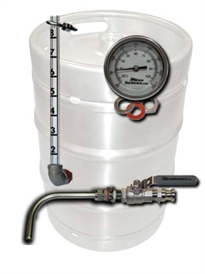 Keg To Kettle Conversion Kit 3 Port Weldless Drain