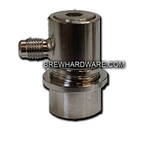 Ball Lock Keg Disconnect ALL STAINLESS - Gas Side - Male Flare MFL