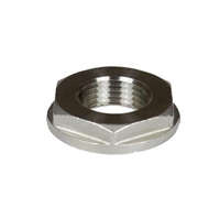 "SS Locknut, 1/2"" NPS Pipe Thread with Large Flange"