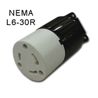 Receptacle, Nema L6-30R Twist Lock Cord Receptacle for 240v, 30 amps