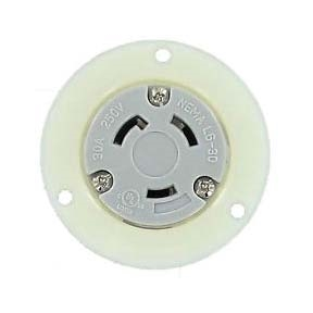 Nema L6 30r Panel Mount Twist Lock Receptacle For 240v 30