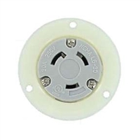 Nema L6-30R Panel Mount Twist Lock Receptacle for 240v, 30 amps