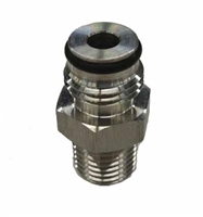 "NPT Male, 1/4"" to Keg Post Adapter 19/32"" -18 Thread"