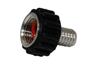 "NPT Swivel Connector, Cool Touch, 1/2"" Female NPT x 3/8"" Hose Barb"