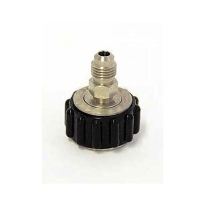 "NPT Swivel Connector, Cool Touch, 1/2"" Female NPT x 1/4"" Male Flare (MFL)"