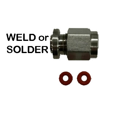 Solder or Weld Thermo Probe Compression Fitting for pots/kegs PCOMP5