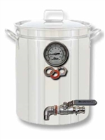 Pot to Boil Kettle or HLT Kit - 2 Port:  Drain and Thermometer only