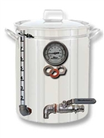 Pot to Boil Kettle or HLT Kit - 3 Port:  Drain, Sightglass and  Thermometer