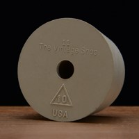 Rubber Stopper, Drilled, #10