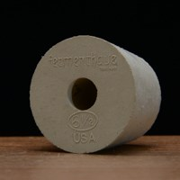 Rubber Stopper, Drilled,  #6.5