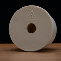Rubber Stopper, Drilled,  #8