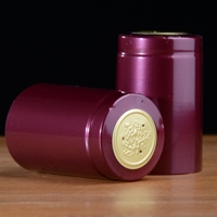 PVC Shrink Capsules Shiny Burgandy 100pk