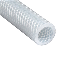 "Silicone Tubing, Reinforced, by the foot, 1/2"" ID x 3/4"" OD (1/8"" Thick Walls)"