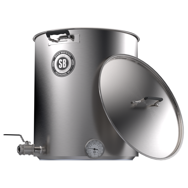 Spike 10gal Kettle with 2 Horizontal NPT Couplers