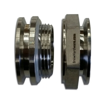 "TRUE Weldless 1.5"" TC Triclamp Bulkhead - Double Sided"